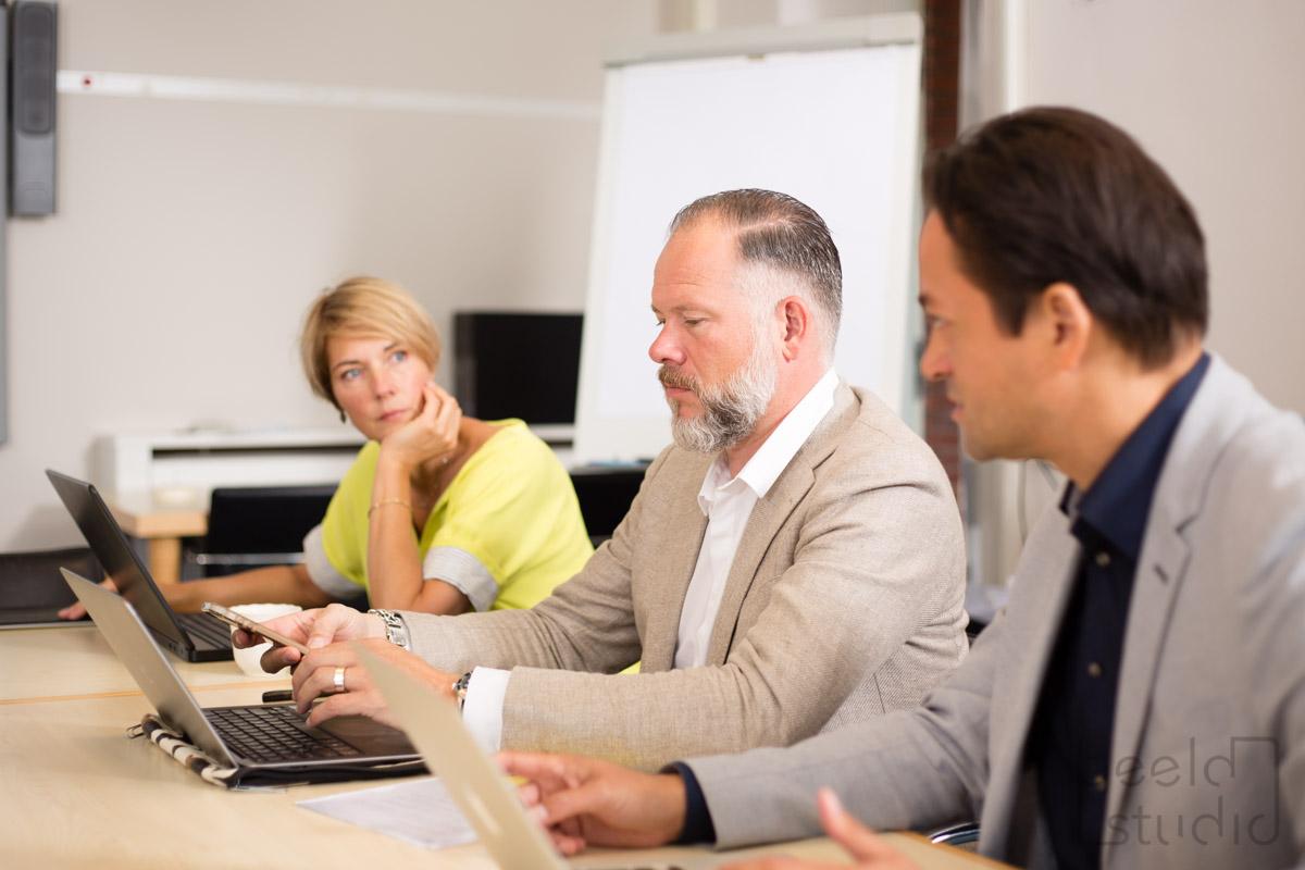 Vergadering bij een organisatieadviesbureau