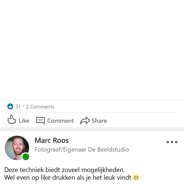 Marc Roos LinkedIn post photoshop